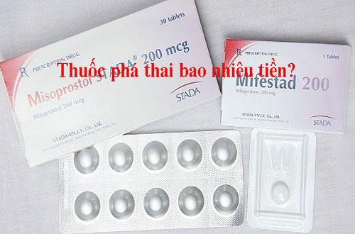 Giá thuốc phá thai Mifepristone và misoprostol là bao nhiêu