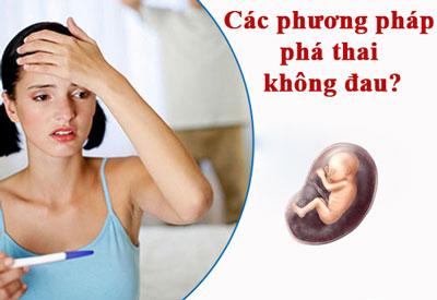 Làm sao để phá thai không đau